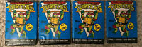 Topps-Teenage Mutant Ninja Turtles Cards Unopened Lot of (4) Wax Packs/Stickers