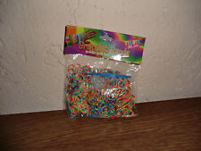 600 Loom Gummibänder zwei farbig Multicolor inkl. 24 Clips+Loom Nadel NEU & OVP