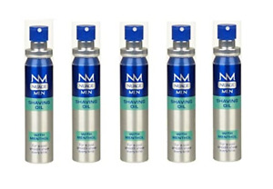 Nuage MEN Shaving Oil Menthol Cool Smooth Pre Shave with Pump Every Time- 5 Pack