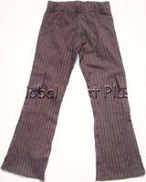 Cargo Pants Pockets Flare Leg Pin Stripes Elastic Waistband Youth Girls Cleo Dot