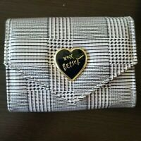 Betsey Johnson Women's Wallet with flap closure Black Plaid Print (NEW)