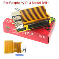 Aluminum Alloy Case w/no Radiator Fan for Raspberry Pi 3 Model B + Shell Covers
