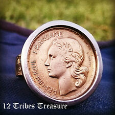 French Coin Ring Marianne Handmade France Italy Vintage Freedom Woman Lady EU