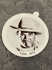 Vintage Dixie Cup Ice Cream Lid With Movie Stars ~ Tom Mix