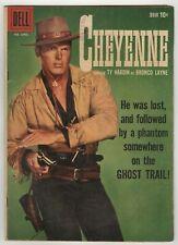 Cheyenne (1958) #10 1st Print Dell Western TV Ty Hardin Photo Cover Tom Gill VG-