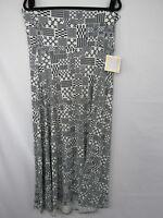 Lularoe Maxi Skirt Dress Size XL Black White Box Geometric Pattern New NWT