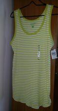 NWT Motherhood Maternity  Green & White Stripe Sleeveless Tank Top Shirt Sz XL