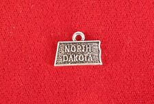 "10pc ""North Dakota"" charms in antique silver style (BC1035)"