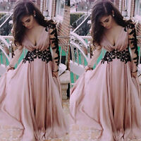 Women Formal V Neck Bridesmaid Ball Prom Gown Evening Party Long Maxi Dress New