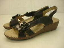 Women's 8.5 9 39 Patrizia by Spring Step Tobasi Black Leather Sandals Slingback