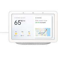 "Google Nest 7"" Voice-Activated Smart Assistant Home Hub - Chalk"