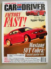 Car and Driver ~ June 2002 ~ Ford Mustang SVT Cobra Viper Maserati Mini Cooper S