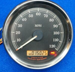 "Genuine Harley Sportster Touring Dyna 4"" Speedometer Speedo 2004-13 15k miles"
