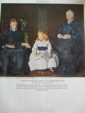 ANTIQUE PRINT 1926 PAINTING ELINOR JEAN AND ANNA BY GEORGE BELLOWS VINTAGE ART