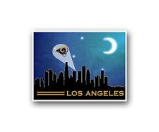 "Los Angeles Rams Poster City Skyline Art Print Man Cave Decor 12x16"""