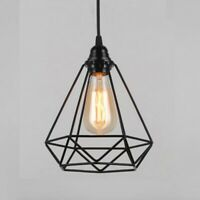 1X(Lampe Suspension Vintage E27 Lustre Plafonniers (Sans Ampoule) Style Retr hnb
