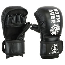 Krav Maga Leather Shooto 7oz Gloves Sparring Training Fighting Mitts Grappling