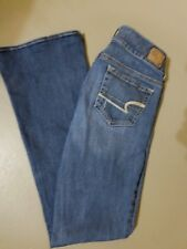 Women's American Eagle Artist Blue Jeans Sz 2 Stretch Med Wash Very Good Cond