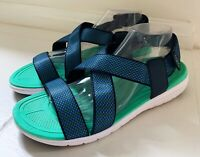 RYKA Womens Belmar Navy/Blue/Green Sport Sandals Size 11 Leisure Walking Strappy