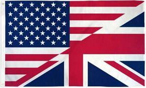 USA UK United Kingdom British American Friendship Flag Banner Pennant 3x5
