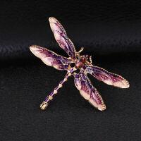 Novelty Rhinestone Enamel Dragonfly Brooch Charm Animal Brooch Pin Women Jewelry