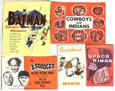 Esar2427. Vintage Lot of 5: Batman, 3 Stooges & More Original Ad Pieces (1960's)