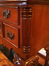 wunderschöne MAHAGONI Kommode - Massivholz Schrank - Sidebord mit 4 Schubladen