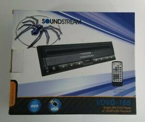 Soundstream VDVD-165 1 DIN Stand Alone Car DVD/MP3 Player Front USB Input - NIB