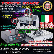 4 Axis 6040Z-2200W USB Mach3 Milling Engraver CNC Router Machine 2.2KW VFD 220V