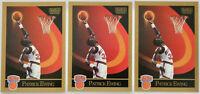 1990-91 SKYBOX BASKETBALL Patrick Ewing 3x Card Lot NM #187 New York Knicks HOF