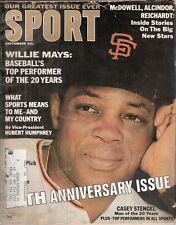 September 1966 Sport Magazine- Willie Mays San Francisco Giants 20th Anniversary