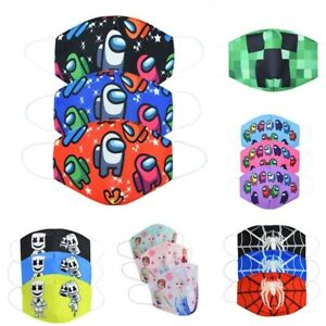 Kid Boy Girl Minecraft Cotton Mouth Face Mask Respirator Resuable Washable Gifts