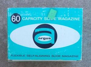 6 Argus 60-Slide Magazine Trays Model 587 In Original Boxes*Holds 300 Slides