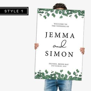High Quality Engagement Party Welcome Sign (60 x 90 cm)