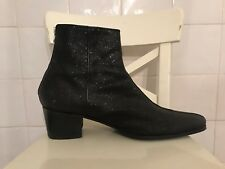 JEFFERY WEST Chelsea Boots Cuban Heel Beatle Mens Ankle GLITTER BOWIE SUPER RARE