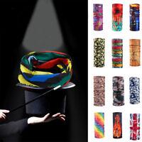 Floral Print Tube Scarf Bandana Head Face Mask Neck Gaiter Snood Headwear Beanie