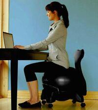 Balance Ball Chair Yoga Ball Exercise Balance Chair Back Fitness Rolling 🪑💛
