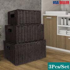 3pcs Household Stylish Storage Baskets Holder Organizer Decor for Clothes Toy Us