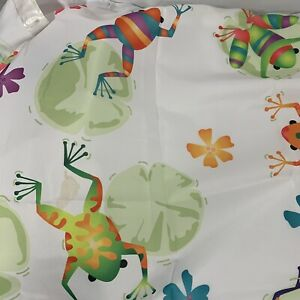Saturday Knight Ltd Frog Fabric Shower Curtain - 70x72 Multicolor Hooks Included