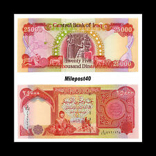 250 000 New Crisp Uncirculated Iraqi Dinar 10 X 25 Iraq Banknotes