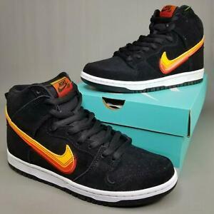 Nike SB Dunk High Pro Truck It Skate Shoes Mens Size 8.5 Black White BQ6826-003