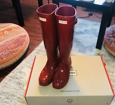 Woman Original Tall Gloss Rain Boots Military Red Us8 Uk6 Good Condition(9/10)