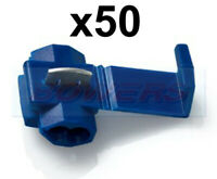 50PK PACK BLUE RING TERMINALS 6.4MM HOLE 1.5MM 2.5MM² CABLE