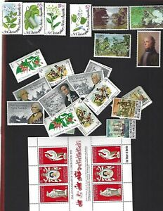 St. Kitts-Nevis sc#380-3,397-400 (1979-80) Complete MNH + Nice lot