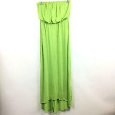 American Dream Small Maxi Dress Lime Green Strapless High Low hem