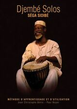Séga Sidibé Djembé Solos FRENCH Learn to Play Drums Percussion Music Book & CD