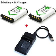 3.6V Battery / Charger For Sony Cyber Shot DSC-H300 DSC-H400 DSC-HX50V DSC-HX60V