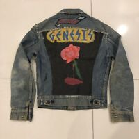 """RARE Vintage Genesis """"Ruthie"""" 1980's Hand Painted Denim Jean Jacket Size Small"""