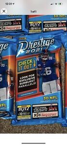 2021 Panini Prestige NFL Football 30 Card Cello Fat Pack 🏈Sunburst Parallel