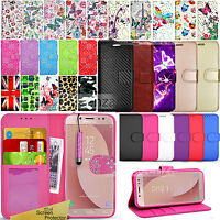 For SAMSUNG GALAXY J7 2017 J730F -Wallet Leather Case Flip Cover + Screen Guard